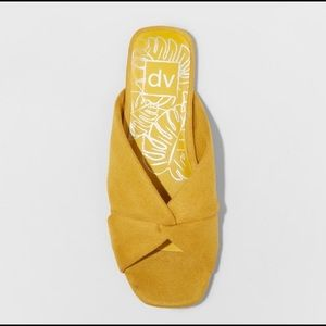DV | Yellow Suede Retro Sandals Shoes
